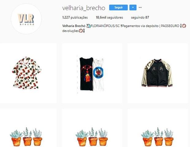 Velharia Brechó (Foto: Instagram)