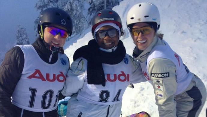 Olga Polyuk, Josi Santos e Danielle Scott, esqui estilo livre, Ruka - Finlândia (Foto: Divulgação)