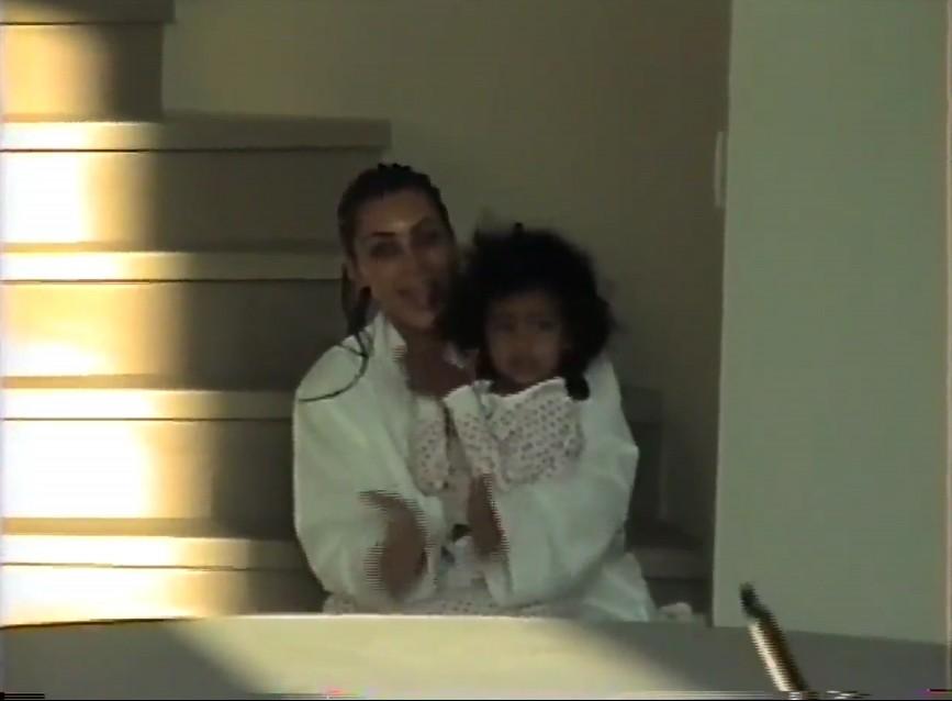 Kim Kardashian e North West (Foto: Reprodução)
