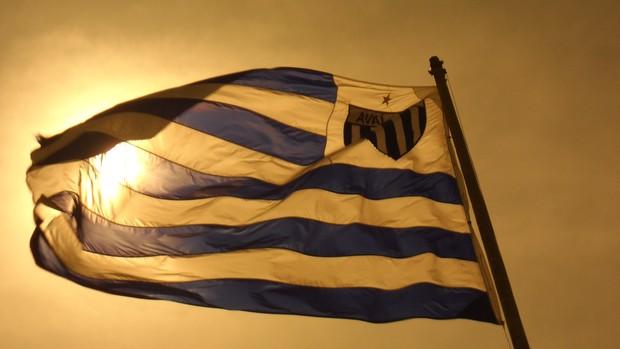 Bandeira do Avaí na Ressacada (Foto: Savio Hermano / GLOBOESPORTE.COM)