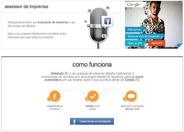 Cartola Assessor de Imprensa (Foto: Globoesporte.com)