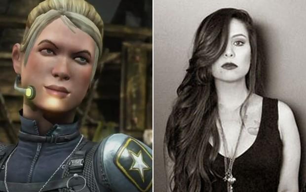 À esquerda, Cassie Cage, a lutadora de 'Mortal Kombat X' dublada pela roqueira Pitty (Foto: Divulgação)