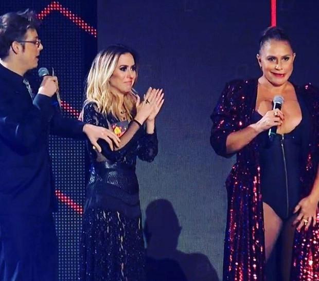 Fábio Porchat e Tatá Werneck com Fafá de Belém no Prêmio Multishow (Foto: Reprodução/Instagram)