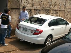 Carlos Eduardo Sundfeld Nunes dirigia um carro roubado quando foi perseguido pela Polícia Civil em Goiânia, Goiás (Foto: Divulgação/PM)