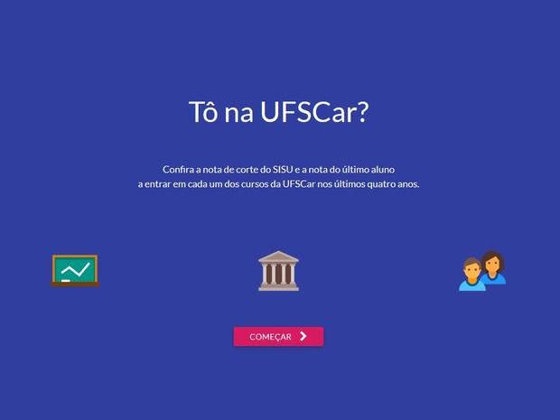 Tô na UFSCar? (Foto: Reprodução Site)