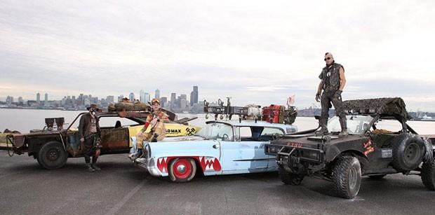 Em parceria com o estúdio Warner Bros., Uber faz corridas com carros do filme 'Mad Max' em Seattle, nos EUA. (Foto: Divulgação/Uber)