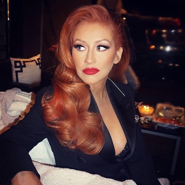 Christina Aguilera ruiva (Foto: Reprodução / Instagram)