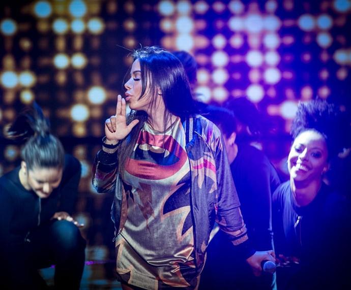 Anitta empolga a plateia ao som de 'Bang' (Foto: Isabella Pinheiro/Gshow)