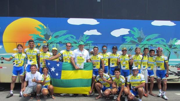 Seleção sergipana de ciclismo (Foto: José Marcelo Pereira/Divulgação)