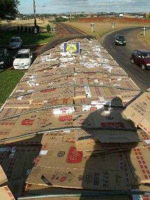 Na abordagem, motorista contou que transportava milho (Foto: Polícia Rodoviária Federal/Divulgação)