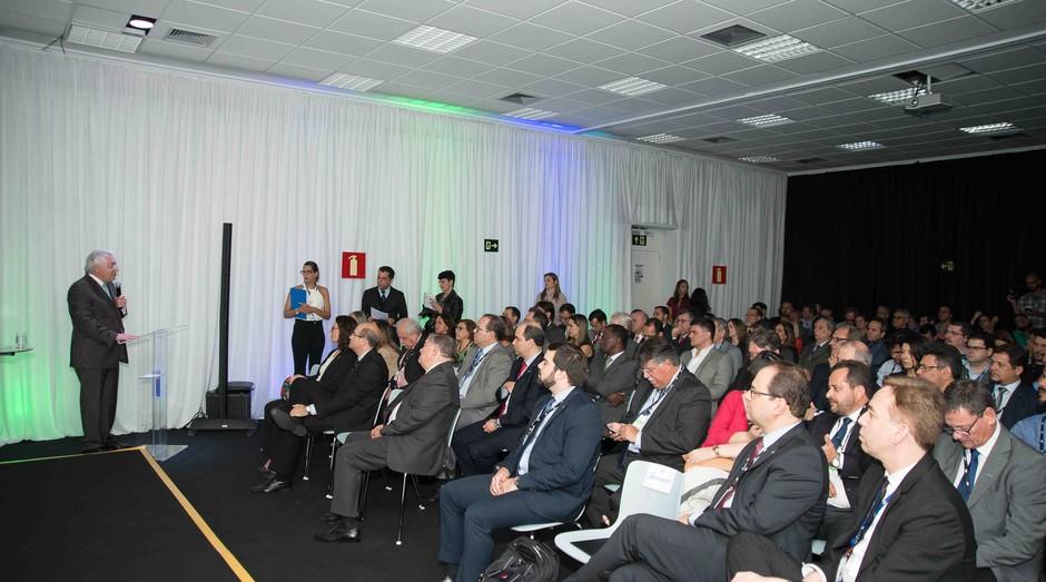 Presidente do Sebrae durante o lançamento do CER, em Belo Horizonte (Foto: Paulo Márcio)