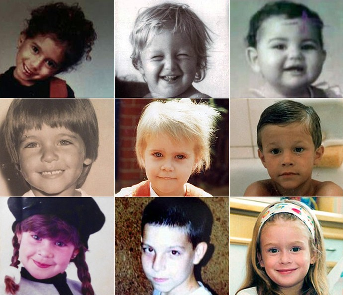 Você consegue adivinhar quem são os famosos pelas fotos de criança? (Foto: Arquivo Pessoal)