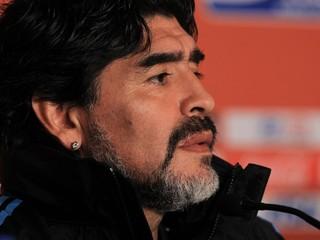 Diego Maradona em foto de 2010 (Foto: Chris McGrath/Getty Images)