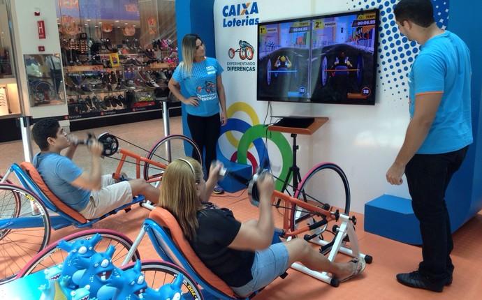"""""""Experimentando Diferenças"""" esporte paralímpico Fortaleza (Foto: Divulgação)"""