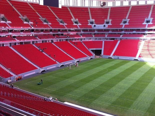 Estádio Nacional de Brasília pronto para receber abertura da Copa das Confederações no próximo sábado26)  (Foto: Káthia Mello/G1 DF)