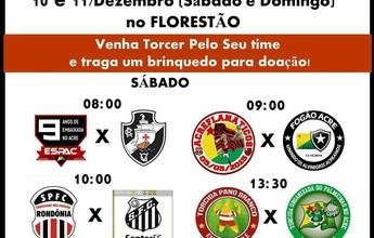 Torcidas realizam torneio solidário neste fim de semana na capital do AC