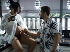 Bianca Leão exibe barriga de 8 meses de gestação em ensaio com o marido