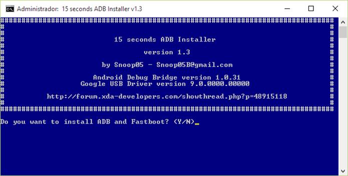 Instale ADB, fastboot e drivers de uma vez só (Foto: Reprodução/Paulo Alves)