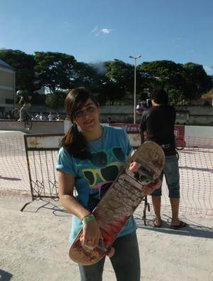 Jéssica foi a única competidora mulher em Teófilo Otoni (Foto: Thais Bohm/globoesporte.com)