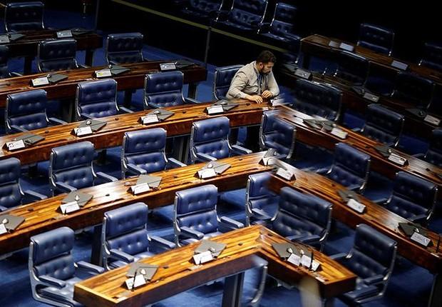 Plenário da Câmara dos Deputados em Brasília (Foto: Ueslei Marcelino/Reuters)