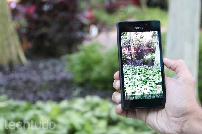 Xperia M2 e M2 Aqua têm câmera de 8 megapixels (Foto: Isadora Díaz/TechTudo)