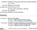 Bahia vence batalha judicial e se livra de dívida de mais de R$ 2 milhões