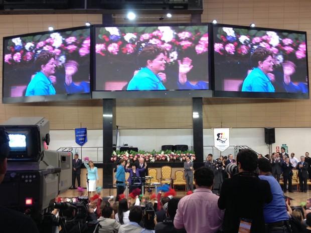 A presidente Dilma Rousseff em congresso da igreja Assembleia de Deus, em São Paulo (Foto: Glauco Araújo / G1)