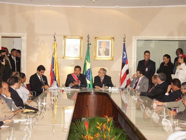 Chávez assinou protocolo de intenções com o Governo que nunca foi adiante (Foto: Biaman Prado/O Estado)