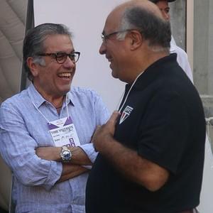 Carlos Miguel Aidar, presidente do São Paulo, e Ataíde Gil Guerreiro, vice-presidente de futebol (Foto: Rubens Chiri / saopaulofc.net)