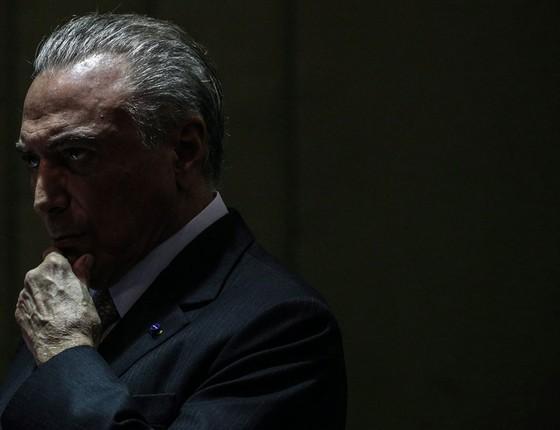 O presidente Michel Temer.A delação da JBS ameaça sua permanência no cargo (Foto:   ANDRE COELHO / Agencia O Globo)