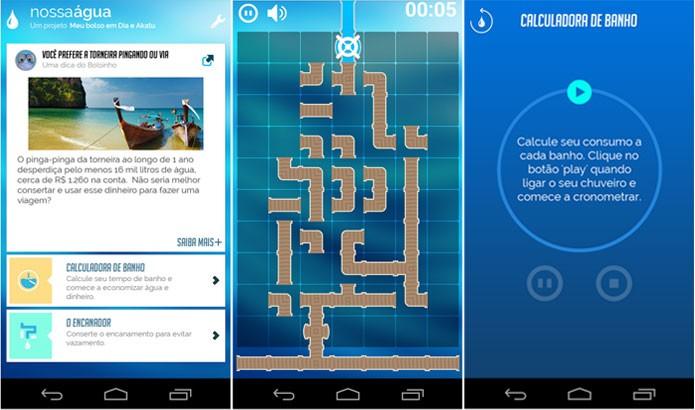 Aplicativo de celular dá dicas sobre economia de água e alerta sobre importância para conserto de vazamentos na tubulação