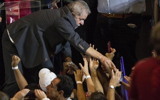 Lula em São Paulo. (Foto: Eduard Knapp/ Folhapress)