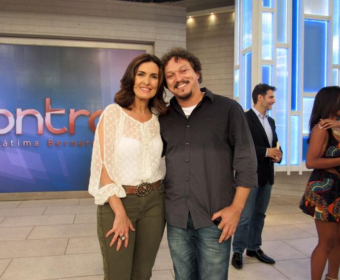Fátima com o ator Fabio Lago  (Foto: Carolina Morgado/Gshow)
