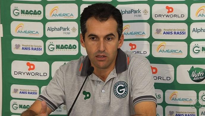 Léo Condé, técnico do Goiás (Foto: Reprodução/TV Anhanguera)