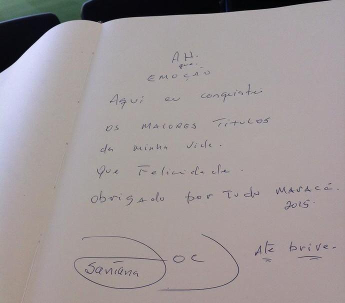 Joel Santana assinatura Livro de Ouro do Maracanã (Foto: Divulgação)