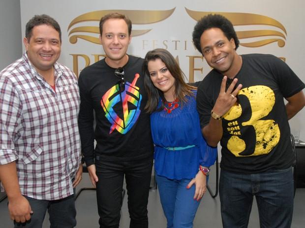 Fernandinho, André Valadão, Ana Paula Valadão e Thalles (da esquerda para direita)  (Foto: TV Globo/Zé Paulo Cardeal)