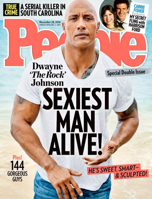 Dwayne Johnson é o homem mais sexy do mundo segundo a revista People (Foto: Reprodução/People)