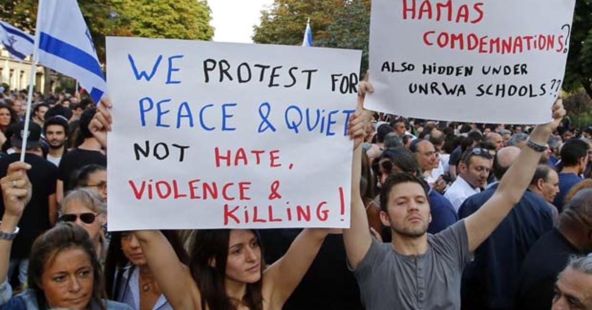 Manifestação pró-Israel reúne milhares de pessoas em Paris