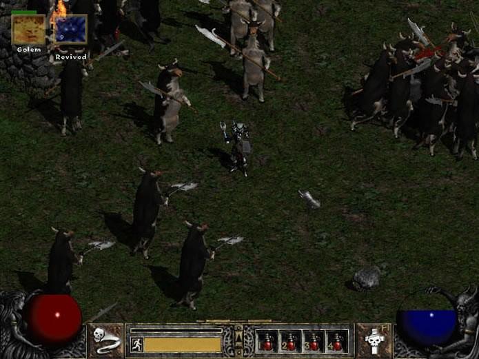 Os jogadores de Diablo 2 poderão enfrentar uma horda de vacas infernais em uma fase secreta (Foto: Reprodução/YouTube)