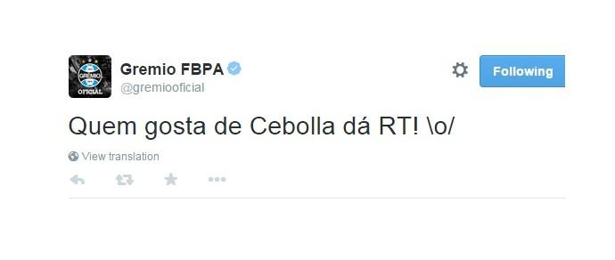Meme Cristian Rodríguez Cebolla Grêmio (Foto: Reprodução/Twitter)