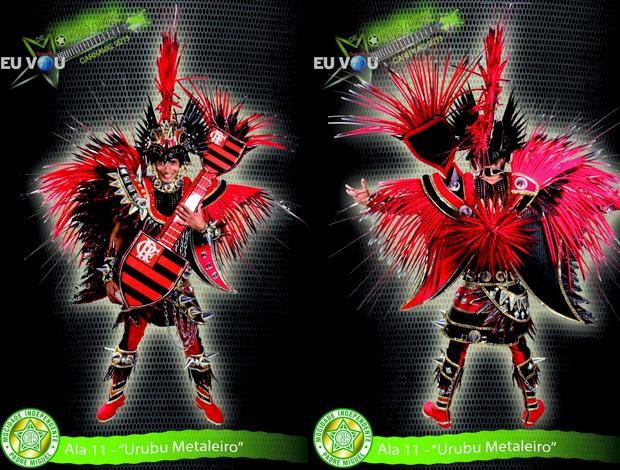 Fantasia Carnaval Flamengo Mocidade (Foto: Reprodução)