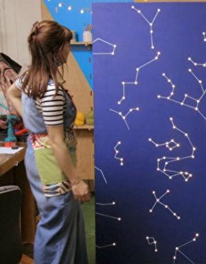 Mais cor, por favor - Aprenda a fazer um painel de constelações iluminado com pisca-pisca