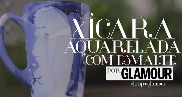 Xícara aquarelada DIY (Foto: Reprodução)