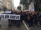 Funcionários do Inca fazem protesto no Centro do Rio