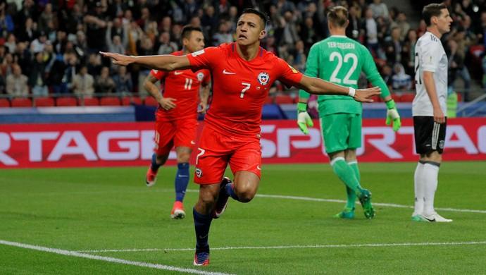 Alexis Sanchez, Alemanha x Chile (Foto: Reuters)