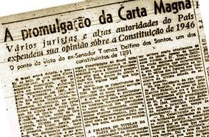 Constituição de 1946 no jornal (Foto: Reprodução)