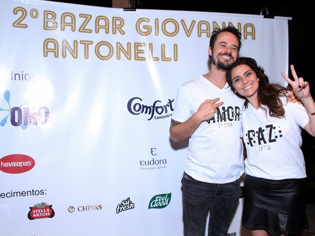 Paulo Vilhena e Giovanna Antonelli (Foto: Alex Palarea / AgNews)