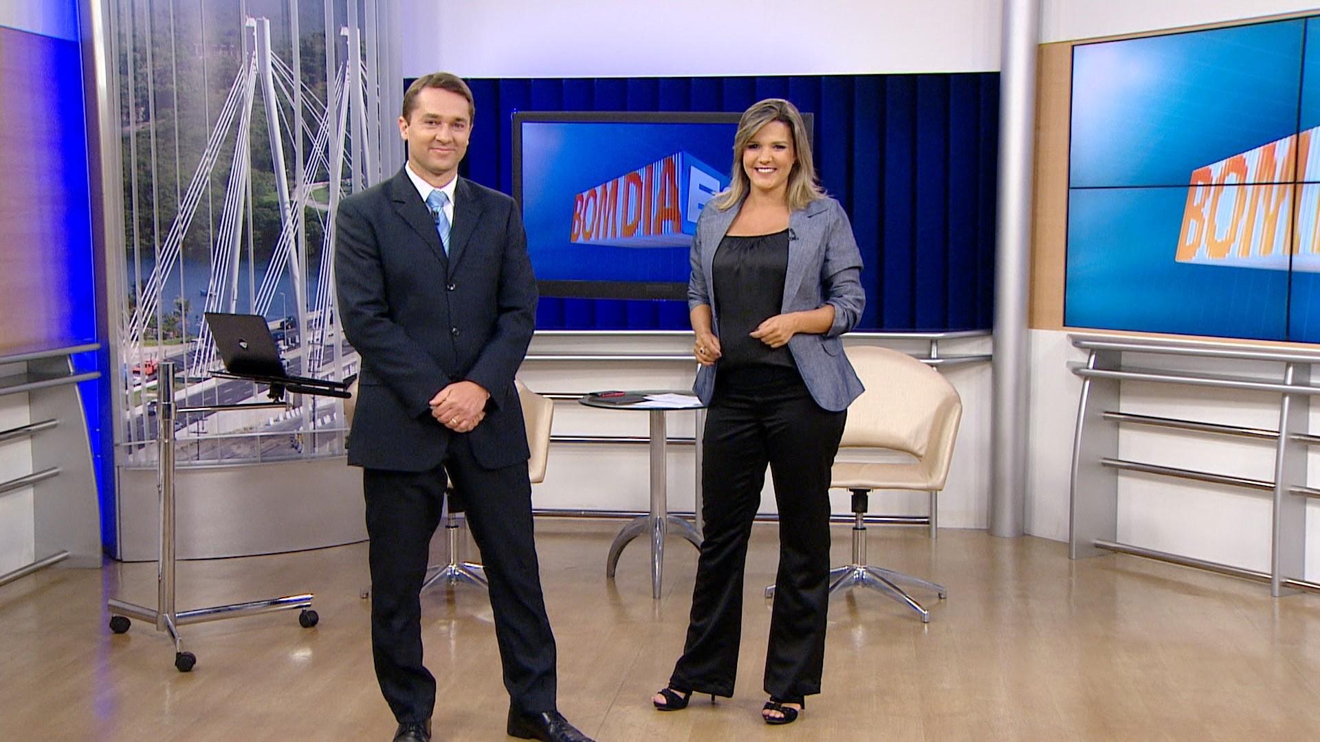 Mário Bonella e Tatiane Braga (Foto: Reprodução TV Gazeta)