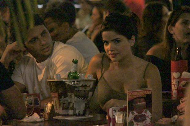 Vanessa Giácomo e o namorado (Foto: Gabriel Rangel/ AgNews)