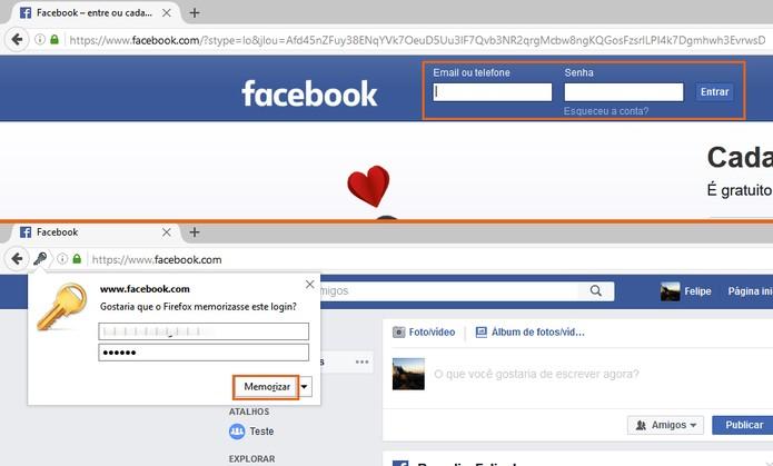 Acesse com sua segunda conta do Facebook no outro navegador (Foto: Reprodução/Barbara Mannara)